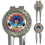 Golf Divot Repair Tool : Grateful Dead - Skull & Roses