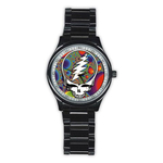 Casual Black Watch : Grateful Dead - Steal Your Face - Fractal