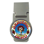 Money Clip (Round) : Grateful Dead - Skull & Roses