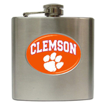 Liquor Hip Flask (6oz) : Clemson Tigers