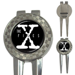 Golf Divot Repair Tool : X-Files (black-white)