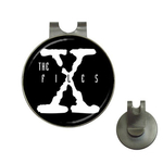 Golf Hat Clip with Ball Marker : X-Files (black-white)