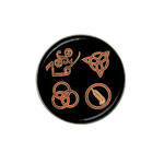 Golf Ball Marker : Led Zeppelin Symbols