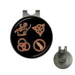 Golf Hat Clip with Ball Marker : Led Zeppelin Symbols