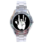 Chrome Dial Watch : Jerry Garcia Handprint