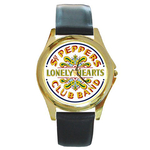 Gold-Tone Watch : Beatles - Sgt. Pepper's Lonely Hearts Club Band