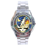 Chrome Dial Watch : Grateful Dead - Steal Your Face - Cosmic