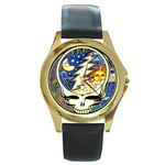 Gold-Tone Watch : Grateful Dead - Steal Your Face - Cosmic