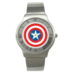 Roman Dial Watch : Captain America Shield