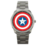 Casual Sport Watch : Captain America Shield