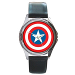 Silver-Tone Watch : Captain America Shield