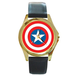 Gold-Tone Watch : Captain America Shield