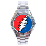 Chrome Dial Watch : Grateful Dead - Bolt
