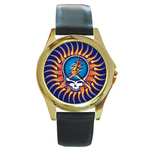 Gold-Tone Watch : Grateful Dead - Steal Your Face - Sun