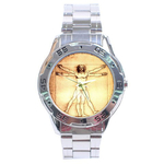 Chrome Dial Watch : Leonardo da Vinci - Vitruvian Man