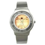 Roman Dial Watch : Leonardo da Vinci - Vitruvian Man