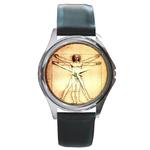 Silver-Tone Watch : Leonardo da Vinci - Vitruvian Man