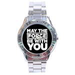 Chrome Dial Watch : May The Force Be With You - Star Wars