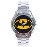 Chrome Dial Watch : Batman Shield