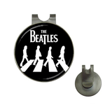 Golf Hat Clip with Ball Marker : The Beatles - Abbey Road (black-white)