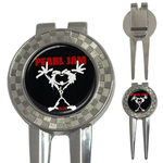 Golf Divot Repair Tool : Pearl Jam - Stickman - Alive (black-white)