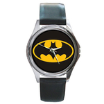 Silver-Tone Watch : Batman Shield