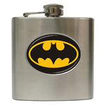Liquor Hip Flask (6oz) : Batman Shield