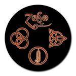 Mousepad (Round) : Led Zeppelin Symbols