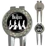 Golf Divot Repair Tool : Beatles - Abbey Road (black-white)