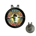 Golf Hat Clip with Ball Marker : Bob Marley - Natural Mystic