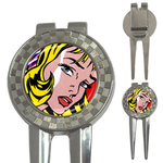 Golf Divot Repair Tool : Girl with Hair Ribbon by Roy Lichtenstein