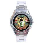 Chrome Dial Watch : Bob Marley - Natural Mystic