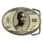 Belt Buckle : Tupac Shakur - One Hundred-Dollar Bill