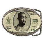 Belt Buckle : Tupac Shakur - One Hundred-Dollar Bill