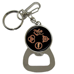 Bottle Opener Keychain : Led Zeppelin Symbols