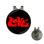Golf Hat Clip with Ball Marker : Love (black)