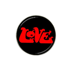 Golf Ball Marker : Love (black)