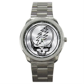 Casual Sport Watch : Grateful Dead - Steal Your Face - Chrome
