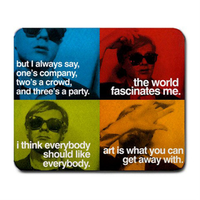 Mousepad : Andy Warhol - Photo Quotes (Blue, Green, Red, Orange)