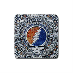 Coasters (4 Pack - Square) : Grateful Dead - Aztec - Steal Your Face
