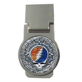 Money Clip (Round) : Grateful Dead - Aztec - Steal Your Face