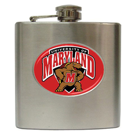 Liquor Hip Flask (6oz) : Maryland Terrapins