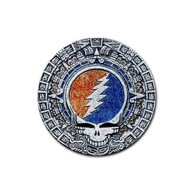 Coasters (4 Pack - Round) : Grateful Dead - Aztec - Steal Your Face