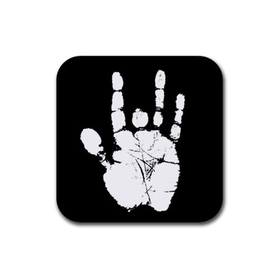 Coasters (4 Pack - Square) : Jerry Garcia Handprint