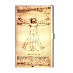 Card Holder : Leonardo da Vinci - Vitruvian Man