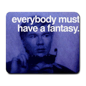 Mousepad : Andy Warhol - Photo Quote (Dark Blue)