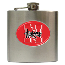 Liquor Hip Flask (6oz) : Nebraska Cornhuskers