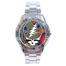 Chrome Dial Watch : Grateful Dead - Steal Your Face - Fractal