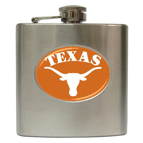 Liquor Hip Flask (6oz) : Texas Longhorns