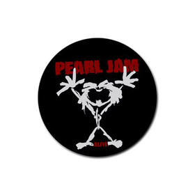 Coasters (4 Pack - Round) : Pearl Jam - Stickman - Alive
